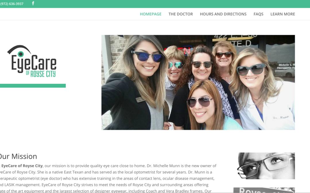 EyeCare of Royse City Website