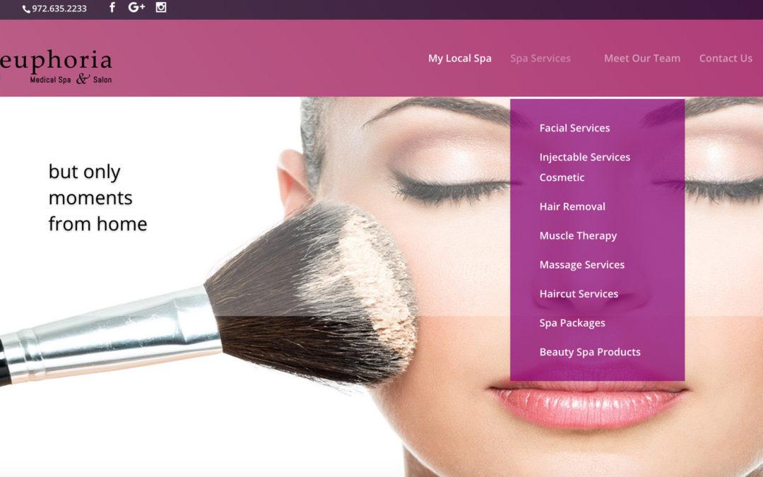 Euphoria Medical Spa Website