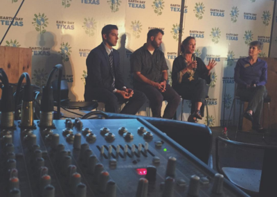 Earth Day Texas Speaker Panel Live Sound